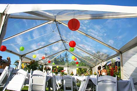 Clear Roof Tent at Paia's Garden Wedding