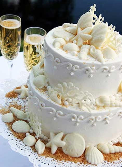 Sea Shell Cake By Maui Wedding Cakes