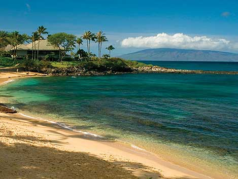 Kapalua Bay Morning next to Merriman's Restaurant