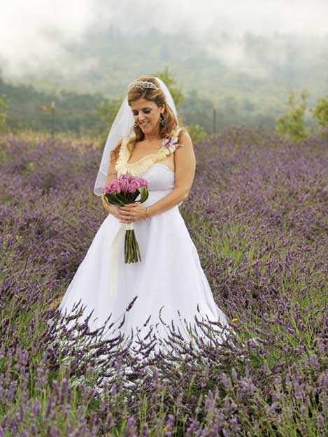 Bride at the Lavendar Farm